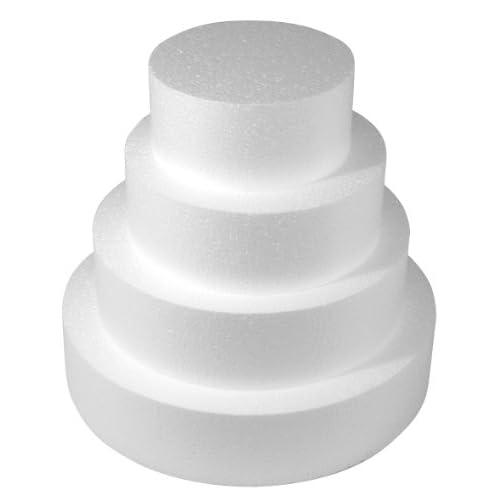 Rayher, Disco in polistirolo, Diametro:15cm, Altezza: 7cm, Ideale Come Supporto per Torte.