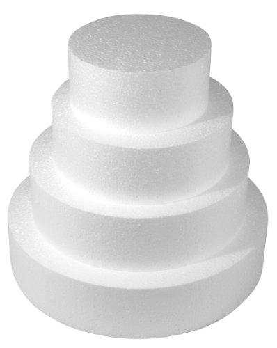 RAYHER Styropor-Scheibe, Durchmesser: 15cm, Höhe: 7cm, ideal als Cake Pop Ständer/ Kuchen-Dummy