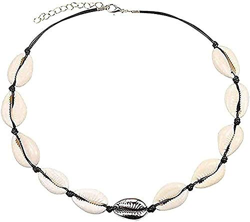Collar Conch Shell Collar Mujer Joyería Verano Playa Collar Concha Cuerda bohemia Sombrero de vaquero Collar de perlas Collar hecho a mano Mujeres Colgante Collar Regalo para mujeres Hombres Mädch