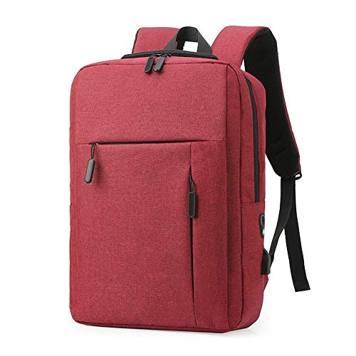 Classic Business Backpack 2 Double Storage, Decompression and Cushioning, Three-Dimensional and Stylish, Level 4 Water-Proof (Red Wine)
