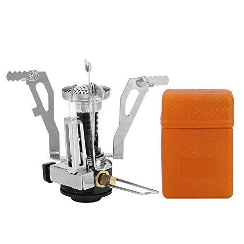 Jopwkuin Estufa de Gas, Mini Estufa de Bolsillo de aleación de Aluminio para Picnic para Barbacoa