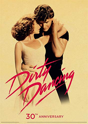 MHHDD Raumdekoration Klassiker Film Dirty Dance Poster Retro Druck Poster Kunst Wandaufkleber-Rahmenlos-50x70cm
