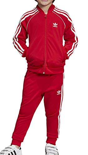 Adidas Superstar, Suits Unisex Bambini, Scarlet/White, 5-6A