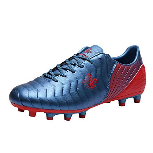 Jocome Couple Outdoor Non-Slip Soccer Shoes Children Low-Top Training Football Shoes Vision Dynamic Fit Fg Soccer Cleats Soccer Shoe Blue