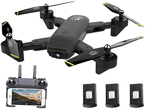 aipipl Quadcopter Trayectoria Vuelo One Key Take Off Flips Rolls WiFi Drones para niños Niños Principiantes Adultos RC Altitude Hold Headless RTF Grado 3D FPV Video WiFi 720P HD Camera