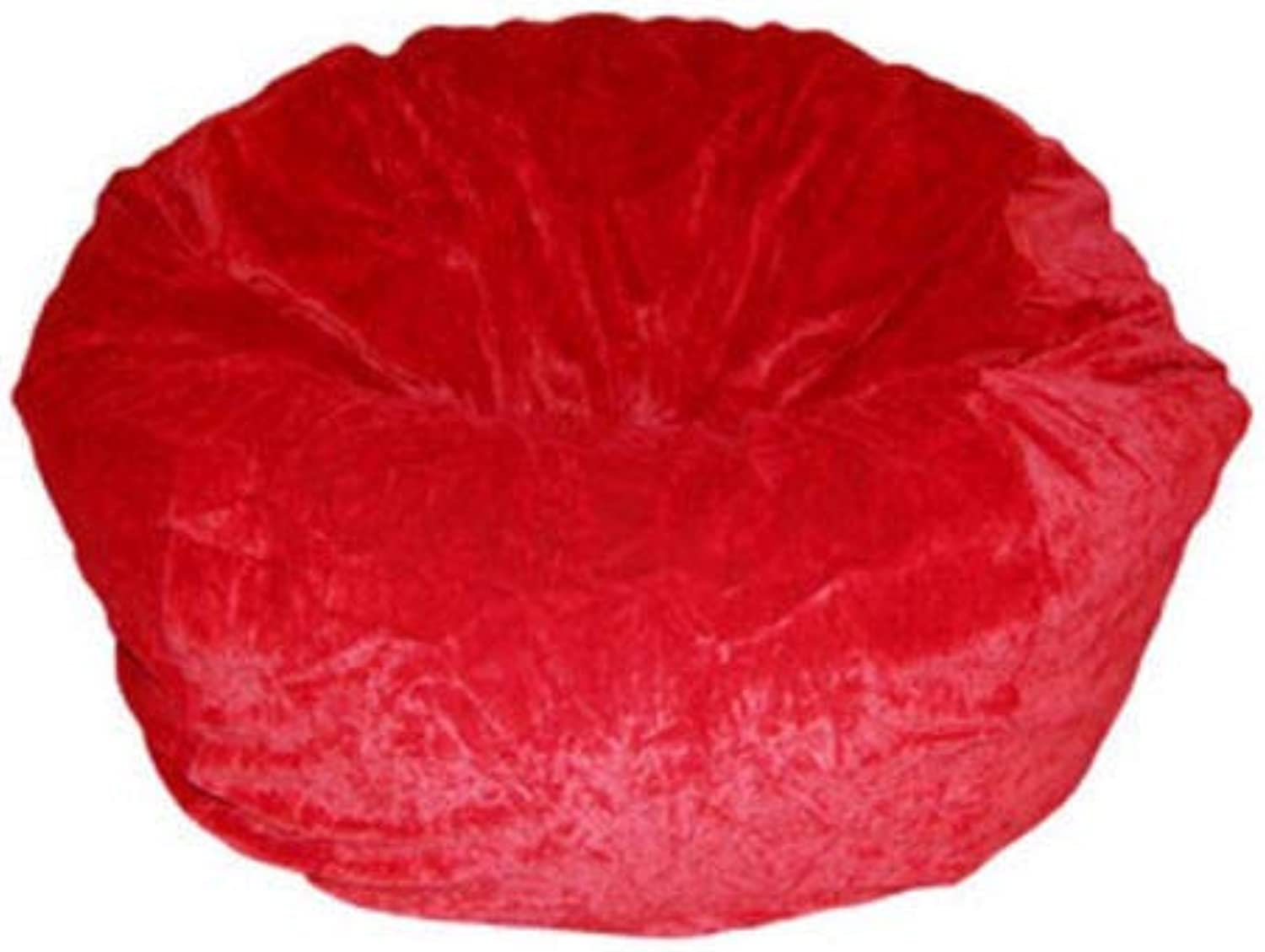 Hotel Luxury 1 Piece 44''x44''x24''Beautiful Ultrasoft Collection Plain Red Velvet Bean Bag (Without Beans)