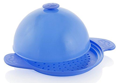 Muxel´s Dampfgar-Set mit Spätzlebrett, Überlaufschutz und Abgiesshilfe Blau + Rezepte