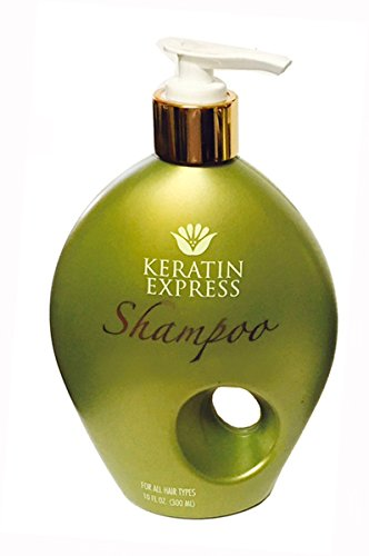 Keratin Express Shampoo Sulfate Free Gentle on Color Treated for all Hair Types Creates Volume Daily Use, 10 fl oz