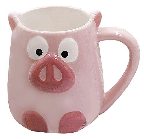 3D Ceramics Fruit/Animal Handwork Coffee Mug Water Tea Cup - Pig/Panda/Fox/Strawberry/Pineapple/Mermaid