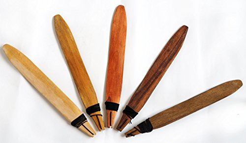Schwirrholz naturbelassen 45 cm Leichtholz Wind Kommunikation besonderer Klang Wirbel Schwirrgerät Aborigines Naturgeräusch Percussion Weltmusik