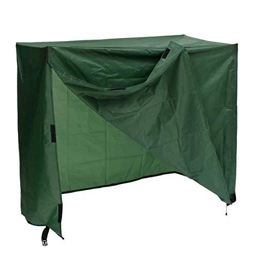 FYZS Muebles de jardín Cubiertas Impermeables oscilación Patio Funda Protectora del jardín for el Aire Libre a Prueba de Polvo (Color : Green)
