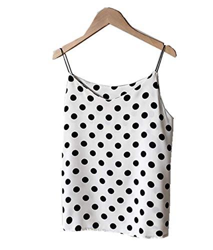 Polka Dot Chiffon hemdje voor dames Bovenkleding binnenshirt