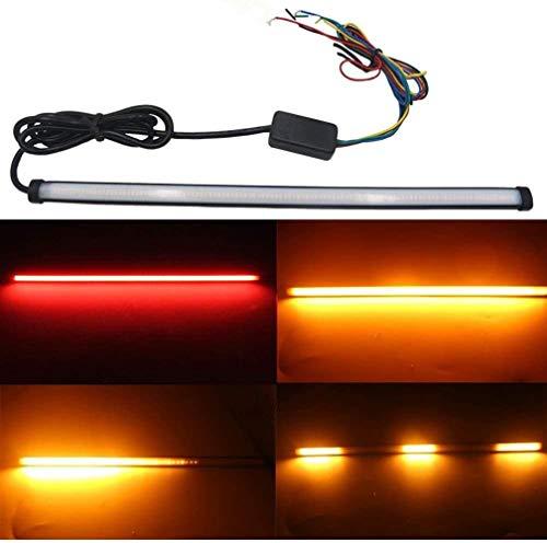 THE BEST DAY Séquentiel de moto LED clignotants feux arrière bande de moto Accessoires de bande LED moto léger
