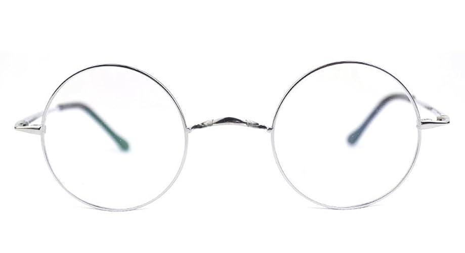 Agstum Pure Titanium Retro Round Prescription Eyeglasses Frame (Without Nose Pads)