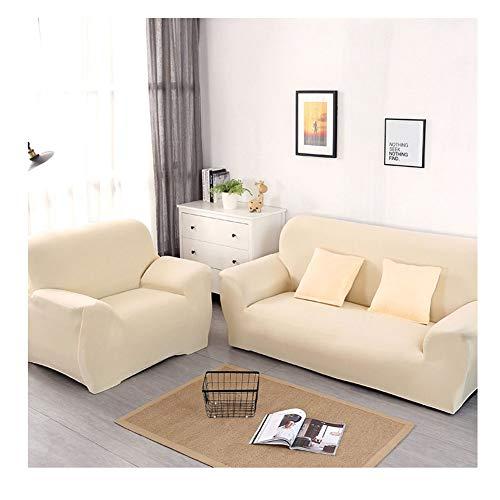 ZIXING Fashion Funda de sofá Elastica 1/2/3/4 plazas de Color sólido,Cubierta para sofá,Universal Funda Elástica para Sofá de Poliéster y Spandex 235 * 300cm