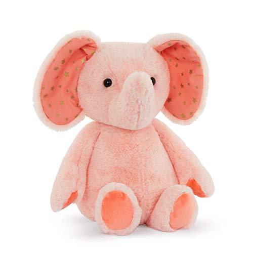 "B. toys by Battat Plush Elephant – Stuffed Animal – Soft & Cuddly Toy – Pink Elephant – 12"" – Washable – Baby, Toddler, Kids – Happyhues – Bubble Gum Becky – 0 Months +"