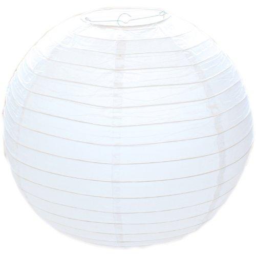 Runder Lampenschirm aus Papier, gerippter-Stil, 50 cm, 5 Stück