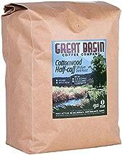 Great Basin Coffee Co. Cottonwood Half-Caff Coarse Ground Coffee - Low Caffeine Gourmet Fresh Small Batch Medium Dark Roast, Ideal for French Press Coffee Grounds, Espresso, Moka Pot 5 lb (2.2 kg)
