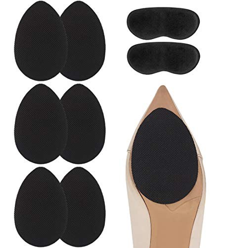 Dr. Foot Self-Adhesive Non-Skid Shoe Pads Anti Slip Shoe Grips for High Heels, Anti-Shedding Non-Slip Rubber Sole Protectors (3 Pairs)