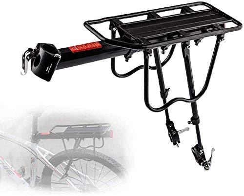 HongTeng-Asiento Trasero de Bicicleta Equipaje Ajustable Estante de la Bici de montaña, Bicicleta tijas de Equipaje con Cierre rápido for la Distancia Corta y Media en Bicicleta al Aire Libre