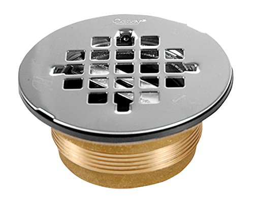 Oatey 42150 NC Brass NO-CALK Shower Drain with Stainless Steel, 2 Inch