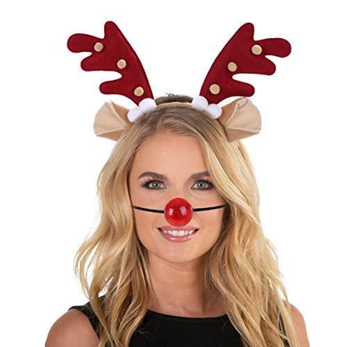 Christmas Antler Headband Headwear Accessory for Christmas Party