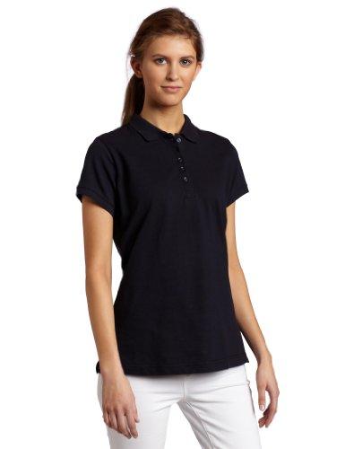 Dickies Women's Pique Polo Shirt, Dark Navy, Medium