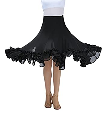 CISMARK Elegant Ballroom Dance Latin Dance Skirt For Women