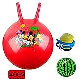 Griff Ball Kinder Krocketball Hüpfball Verdickung Kinder Hüpfball Kindergarten aufblasbarer Ball Spielzeug-Red 40cm Klauenball