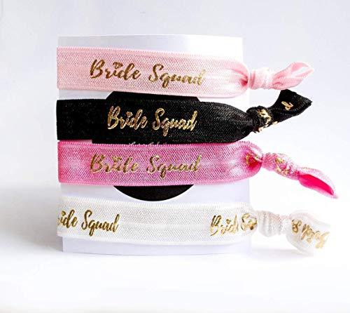 2er Pack -'Bride Squad' - Armband Haargummi Junggesellenabschied Hochzeit Party