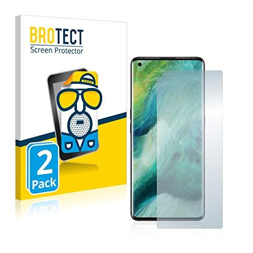 BROTECT 2X Entspiegelungs-Schutzfolie kompatibel mit Oppo Find X2 Pro Bildschirmschutz-Folie Matt, Anti-Reflex, Anti-Fingerprint