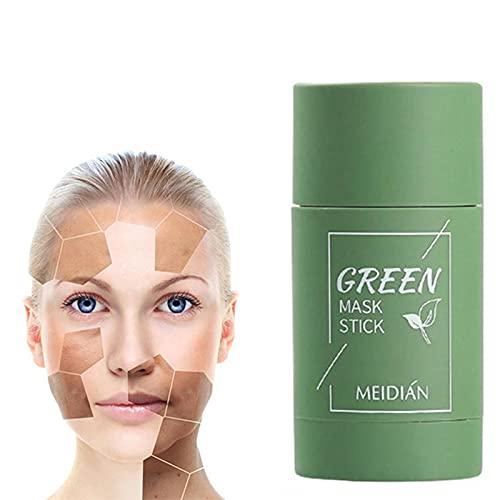 WOkismx Máscara Facial de la máscara de la máscara de la Carcasa de la Arcilla de la Arcilla de la Arcilla del té Verde, la máscara de Aceite de Limpieza Profunda de la máscara Anti-acné con máscara