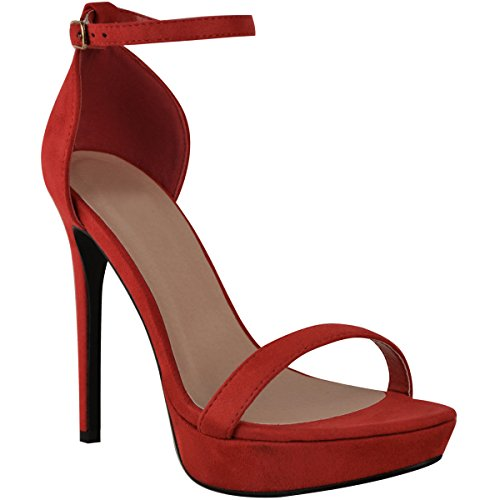 Fashion Thirsty Mujer Plataforma Alta Tacón Aguja Sandalias Sexy Fiesta Baile Zapatos Talla Nuevo