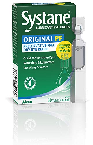 Systane Long Lasting Lubricant Eye Drops Vials Eye Drops, 30 Count, 0.7 ml (Pack of 1)