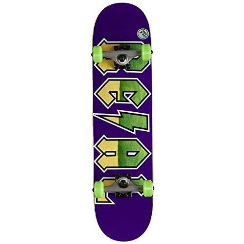 Real Skateboard Komplett New Deeds Md - 7.75 inch Purpur-Grun (One Size, Purpur)