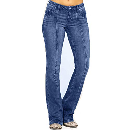 FELZ Pantalones Vaqueros Mujer Talla Grande Pantalones De Mezclilla para Mujer Cintura...