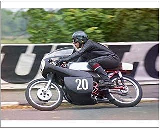 10x8 Print of Bob Ware (Yamaha) 1971 Ultra Lightweight TT (20588384)