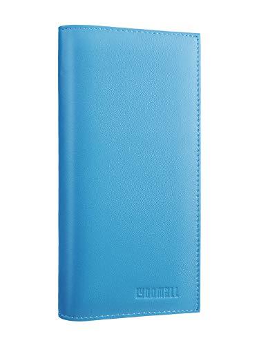 LYOOMALL Leather Checkbook & Register Cover Holder Case Slim Wallet For Men & Women