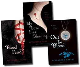 Alyxandra Harvey The Drake Chronicles Collection Alyxandra Harvey 3 book Set (Blood Moon, Blood Feud, My love lies Bleeding) (The Drake Chronicles)