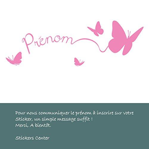 Sticker Personnalisable Papillons Rose Clair 80x26 cm