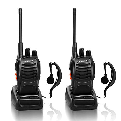Great Deal! BaoFeng 888S Walkie Talkie 16CH UHF 400-470Mhz Two Way Radio with Earpiece Portable Radi...