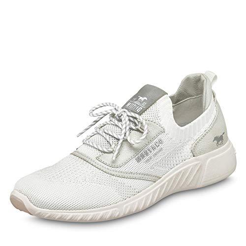 MUSTANG Shoes Halbschuhe in Übergrößen Weiß 1315-306-203 große Damenschuhe, Größe:45