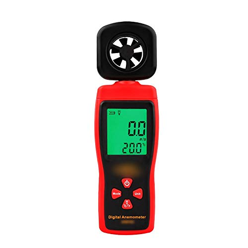 WEATLY Mini Anemometer digitales Anemometer Tester Windmesser Windgeschwindigkeit Lufttemperatur Messgerät (Farbe