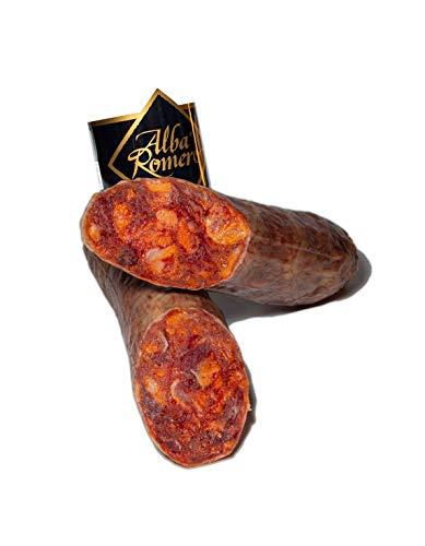 Chorizo Cular Ibérico de Bellota ALBA ROMERO   Embutido curado y envasado al vacío   Pieza entera de peso aproximado de 1 KG