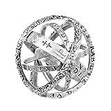 AMOYER Mode-Ring Mit Astronomical Kugel Form Paar Finger-Ring-Kugel-Ring Für Partei-Dress Up Größe 7