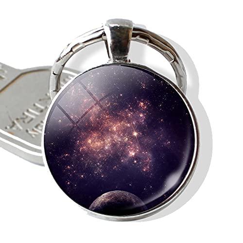 Sistema Solar Planeta Universo Colgante Color Plata Metal Llavero Llavero Nebulosa joyería Regalo Creativo