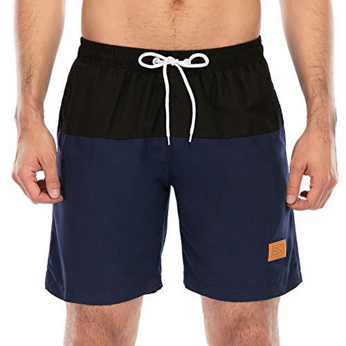SKYSPER Bermuda da Bagno Uomo Shorts da Bagno Shorts da Mare con Elastico e Coulisse per Nuoto Spiaggia