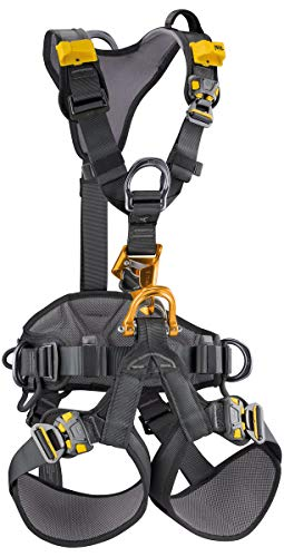 PETZL - Astro BOD Fast Full Body Harness W/Integrated Croll L, Black/Yellow, 1