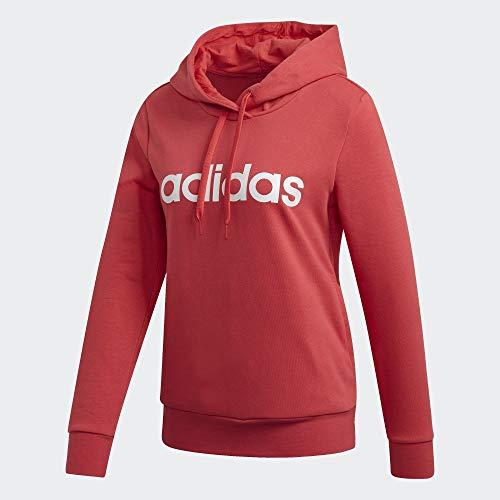 adidas W E Lin Oh Hd Sweatshirt Damen XS Rosbas / Weiß