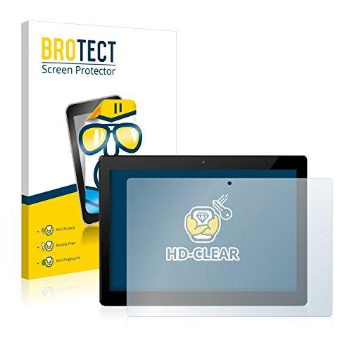 BROTECT Schutzfolie kompatibel mit Allview W10N (2 Stück) klare Bildschirmschutz-Folie